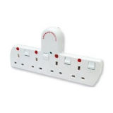 Tacima CS926N/BP Plug-In Adaptor 4 Way Surge Protector